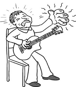 guitarists sore fingers
